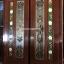 ประตูไม้สักกระจกนิรภัยแกะลีลาวดี ชุด4ชิ้น เกรดA รหัสAAA132 thumbnail 4
