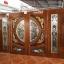 ประตูไม้สักกระจกนิรภัยแกะมังกร,หงส์ ชุด4ชิ้น รหัสAAA29 thumbnail 1