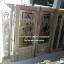 ประตูไม้สักกระจกนิรภัยครึ่งบาน ชุด4ชิ้น รหัส NOT08 thumbnail 1