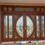 ประตูไม้สักกระจกนิรภัย บานเลื่อน ชุด7ชิ้น รหัส AAA37 thumbnail 1