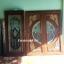 ประตูไม้สักกระจกนิรภัย แกะมังกร,หงส์ เกรดA, B+ รหัส A124 thumbnail 1