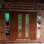 ประตูไม้สักกระจกนิรภัยบานเลื่อนโมเดิร์น ชุด7ชิ้น รหัสAAA26 thumbnail 1