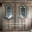 ประตูไม้สักกระจกนิรภัยใหม่!!! เกรดA รหัส AA84 thumbnail 1