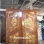ประตูไม้สักบานคู่แกะดอกไม้แต้มทอง เกรดA รหัสBB18 thumbnail 1