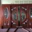 ประตูไม้สักกระจกนิรภัยบานเลื่อนแกะลีลาวดี ชุด4ชิ้น รหัสAAA15 thumbnail 3