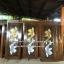 ประตูไม้สักบานเดี่ยวแกะปลาเงิน-ทอง เกรดA, B+ รหัส C108 thumbnail 1
