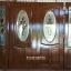 ประตูไม้สักกระจกนิรภัยวงรี ชุด4ชิ้น รหัสAAA58 thumbnail 1