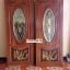 ประตูไม้สักกระจกนิรภัยวงรี แกะหงส์ เกรดA รหัส A41 thumbnail 1