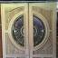 ประตูไม้สักกระจกนิรภัย แกะดอกไม้ เกรดA รหัส AA10 thumbnail 1