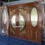 ประตูไม้สักกระจกนิรภัยบานเลื่อนแกะองุ่น ชุด4ชิ้น รหัสAAA21 thumbnail 2