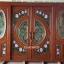 ประตูไม้สักกระจกนิรภัยบานเลื่อนแกะลีลาวดี ชุด4ชิ้น รหัสAAA15 thumbnail 1
