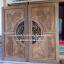 ประตูไม้สักกระจกนิรภัยแกะมังกรหงส์ เกรดA รหัส AA74 thumbnail 1