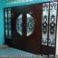 ประตูไม้สักกระจกนิรภัย บานเลื่อน ชุด4ชิ้น รหัส AAA40 thumbnail 1