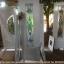 ประตูไม้สักกระจกนิรภัย สีขาว ชุด7ชิ้น เกรดA รหัส AAA69 thumbnail 1