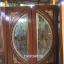 ประตูไม้สักกระจกนิรภัยแตงโมเต็มบาน แกะดอกไม้ เกรดA รหัส A10 thumbnail 1