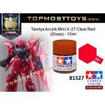 Tamiya 81527 Acrylic Mini X-27 Clear Red (Gloss) - 10ml