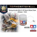 Tamiya 81535 Acrylic Mini X-35 Semi-Gloss Clear (Gloss) - 10ml