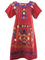 ชุดวินเทจ Vintage Mexican Embroidered Dress