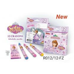 สีเทียนมาตรฐาน12สีเกรด Aลายโซเฟีย [ Disney Sofia Princess Crayons ]