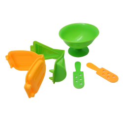ชุดแม่พิมพ์แป้งโดว์ไอศครีม คละสี 8ชิ้น (Ice Cream Mold Set)
