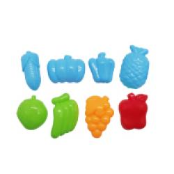 ชุดแม่พิมพ์แป้งโดว์รูปผลไม้ 8 ชิ้น (Multi- Fruit Letter Press 8 design)
