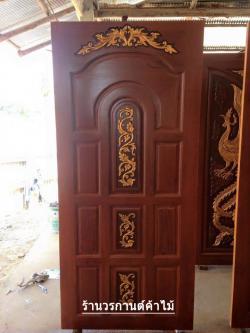 ประตูไม้สักบานเดี่ยว เกรดA รหัส C15