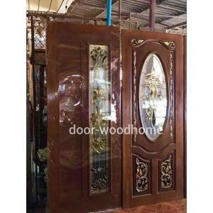 ประตูไม้สักกระจกนิรภัย รหัส N10