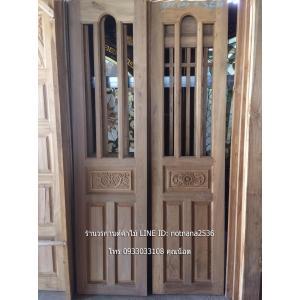 ประตูบานเฟี้ยมไม้สัก เกรดA รหัส SO32