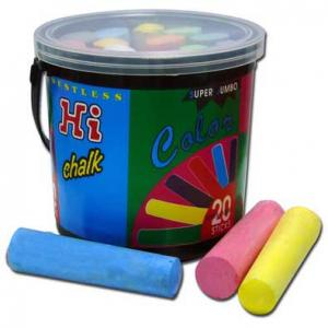 กระปุกชอล์คสีขนาดจัมโบ้ 20 แท่ง (Sidewalk Chalks Reusable Bucket)