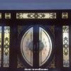 ประตูไม้สักกระจกนิรภัย ชุด 7ชิ้นเกรดA รหัส NNA181