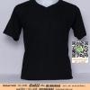 E.เสื้อยืด เสื้อt-shirt คอวี สีดำ ไซค์ขนาด 32 นิ้ว