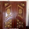 ประตูไม้สักบานคู่ เกรด A, B+ รหัส BB10