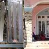ประตูไม้สักกระจกนิรภัย ประตูไม้สักบานเลื่อน ไม้สักเก่า เกรดA รหัส AA00