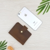 M Card Leather Buttom Brown