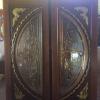 ประตูไม้สักกระจกนิรภัย แกะมังกรหงส์ เกรดA,B รหัส NNA186