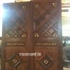 ประตูไม้สักบานคู่ ฟักแกะ เกรดA ,B รหัสBB28