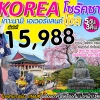IJ KLJ14 ทัวร์ เกาหลี โซรัคซาน เที่ยวครบ สุดคุ้ม 5 วัน 3 คืน บิน LJ