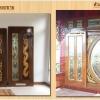 มาตรฐานสี ประตูไม้สัก ร้านวรกานต์ค้าไม้