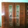 ประตูไม้สักกระจกนิรภัย โมเดิร์น เกรดA รหัสA17