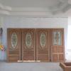 ประตูไม้สักกระจกนิรภัย เกรดA รหัส NNA184