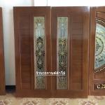 ประตูไม้สักกระจกนิรภัย โมเดิร์น เกรดA รหัส A51