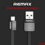 สายชาร์จ Micro USB REMAX METAL RC-044m สีดำ