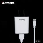ชุดชาร์จ Remax 2in1 รุ่น RP-U12 (1A) (ที่ชาร์จ + สายชาร์จ iPhone6,5) สีขาว