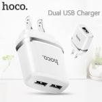 ที่ชาร์จ Hoco USB C12A (2.4A) สีขาว