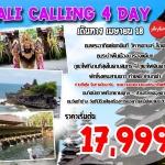 SPH BALCALL4DFD ทัวร์ บาหลี BALI CALLING 4 วัน 3 คืน บิน SL/FD