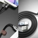 สายชาร์จ 2 in 1 Remax แท้ 100 % Micro USB & iPhone 5/6 สีดำ