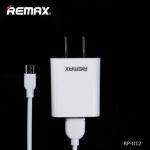 ชุดชาร์จ Remax 2in1 รุ่น RP-U12 (ที่ชาร์จ + สายชาร์จ Micro) สีขาว