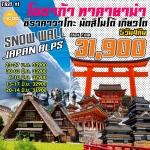 IJ TR21 ทัวร์ ญี่ปุ่น โอซาก้า ทาคายาม่า ชิราคาวาโกะ เกียวโต กำแพงหิมะ Snow Wall 5 วัน 4 คืน บิน TR