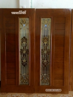 ประตูไม้สักกระจกนิรภัย สไตล์โมเดิร์น รหัส NNA05