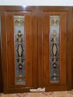 ประตูไม้สักกระจกนิรภัย โมเดิร์น เกรดA รหัส NNA16